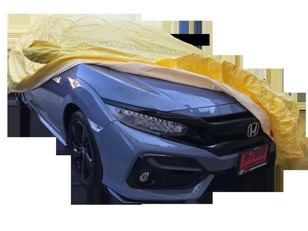 ผ้าคลุมรถไวนิลการ์ด2ชั้น สีเหลือง